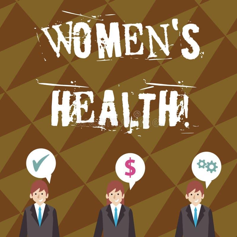 Pisa? nutowym pokazuje kobietom s jest zdrowiem E royalty ilustracja