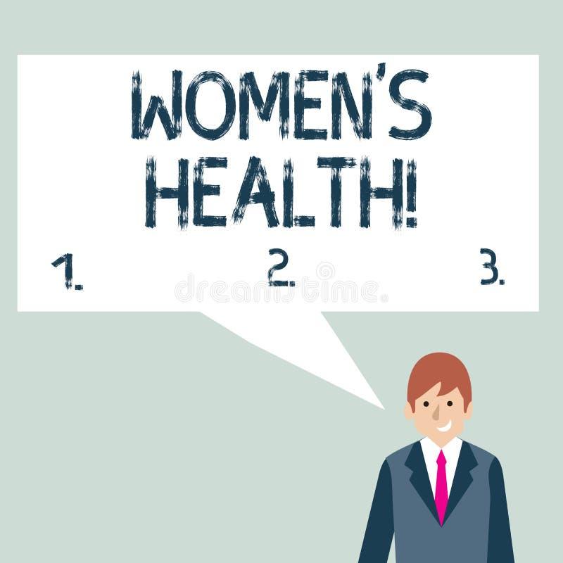 Pisa? nutowym pokazuje kobietom s jest zdrowiem E ilustracja wektor
