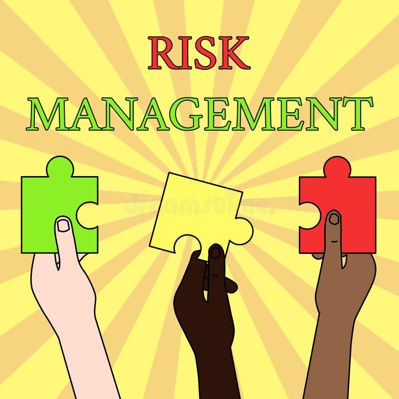 Pisa? nutowym pokazuje zarz?dzaniu ryzykiem Biznesowa fotografia pokazuje cenienie pieniężni zagrożenia lub problemy z ilustracja wektor