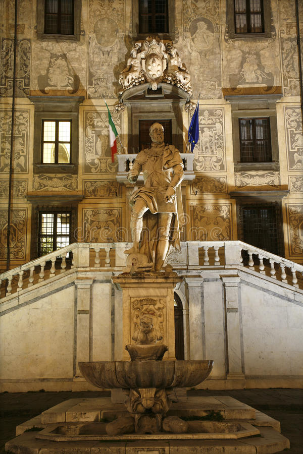 Pisa - statue of Cosimo I de' Medic stock photography