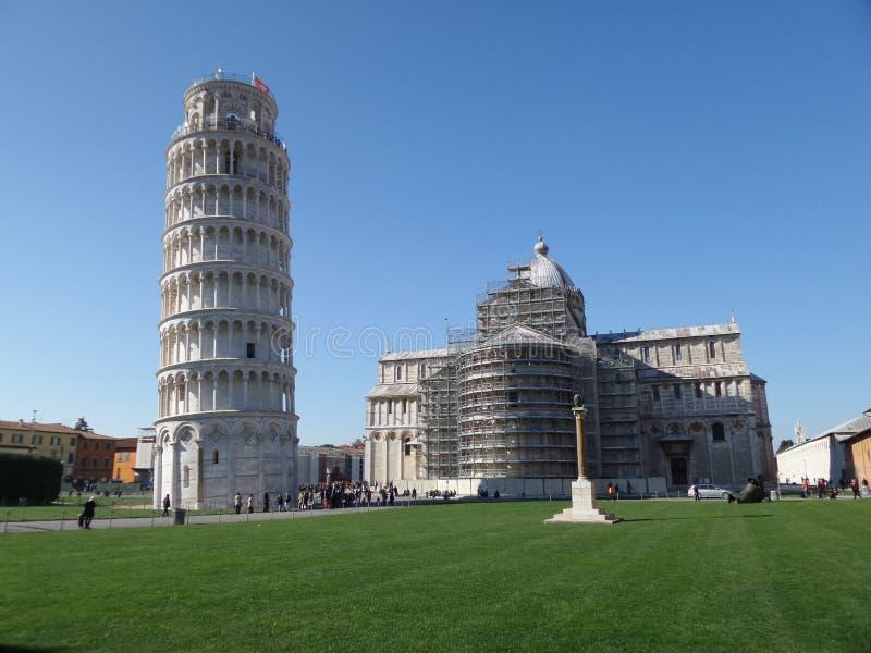 Pisa sua história e sua torre fotografia de stock royalty free