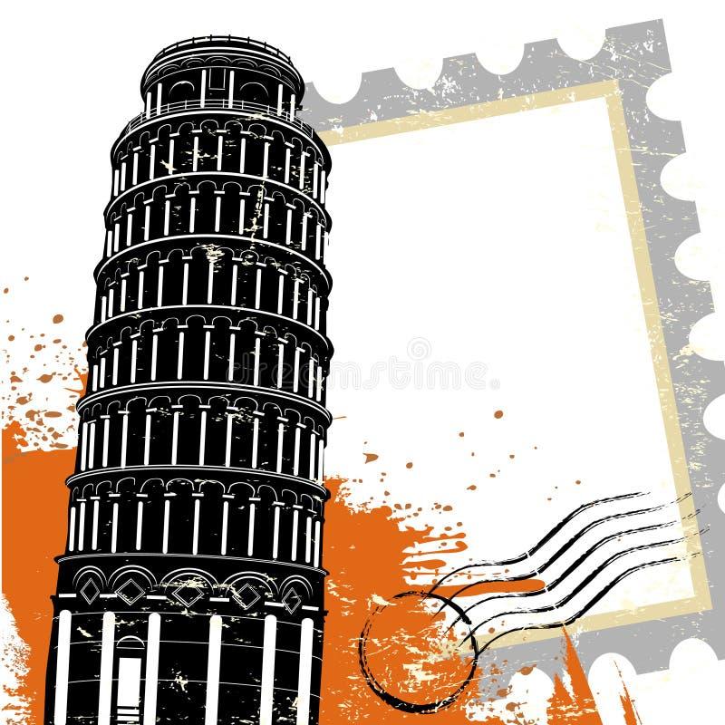 Pisa tower vector illustration