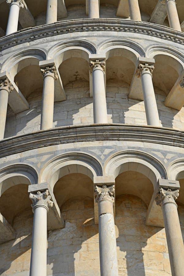 Pisa tower details stock photos