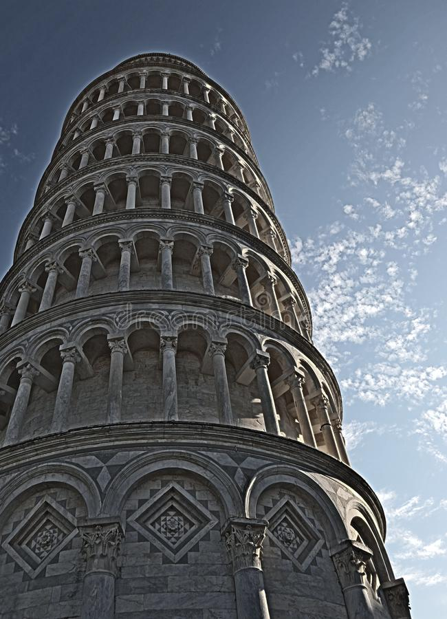 Pisa Tower with high dynamic range effect stock images