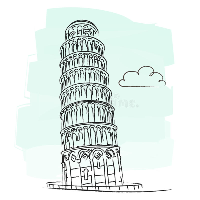 Free Pisa Tower Vector Stock Photography - 23005202