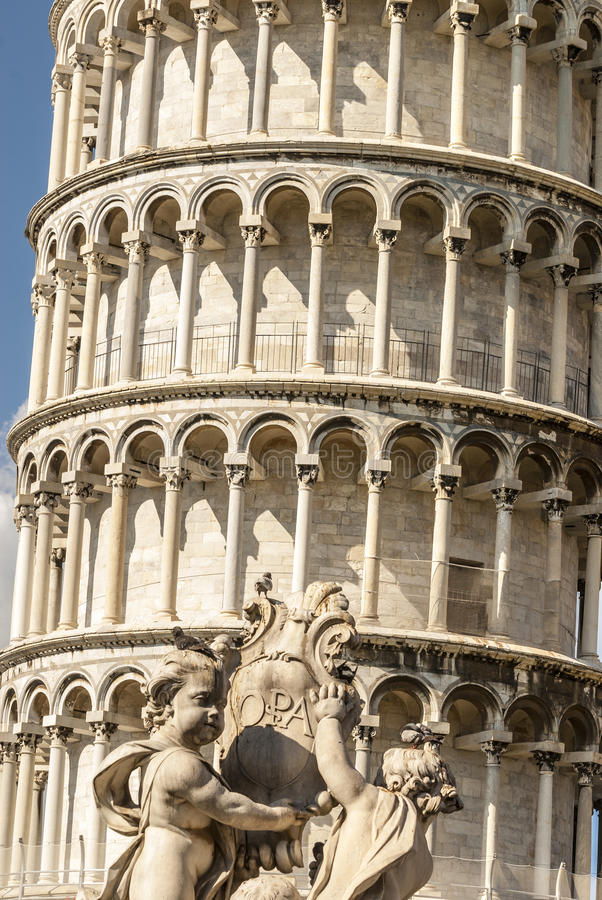 Pisa (Tuscany) - The bending tower stock images