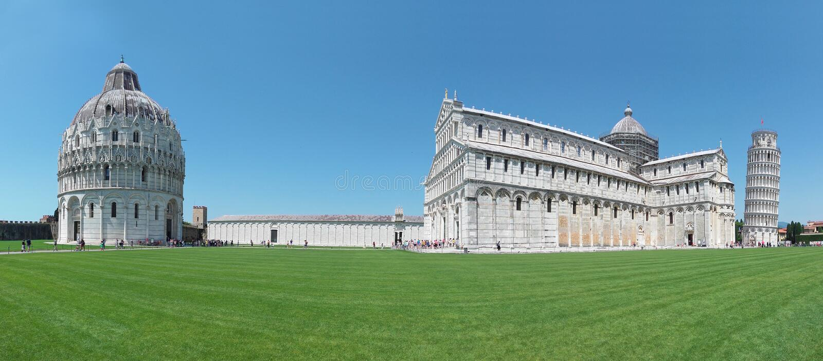Pisa, Tuscany, Italy. Leaning Tower of Pisa, Piazza del Duomo. royalty free stock image