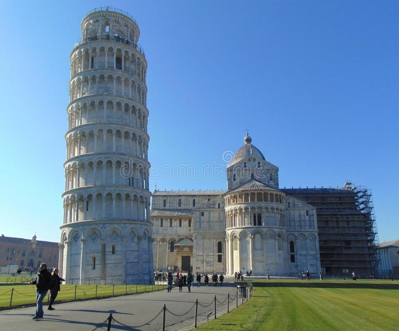 Pisa Tuscany Italy. Leaning tower of Pisa and Cathedral. stock image
