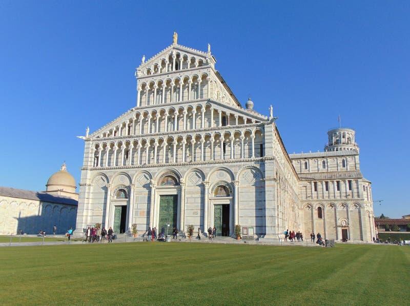 Pisa Tuscany Italy. Pisa Cathedral facade Santa Maria Assunta royalty free stock photo