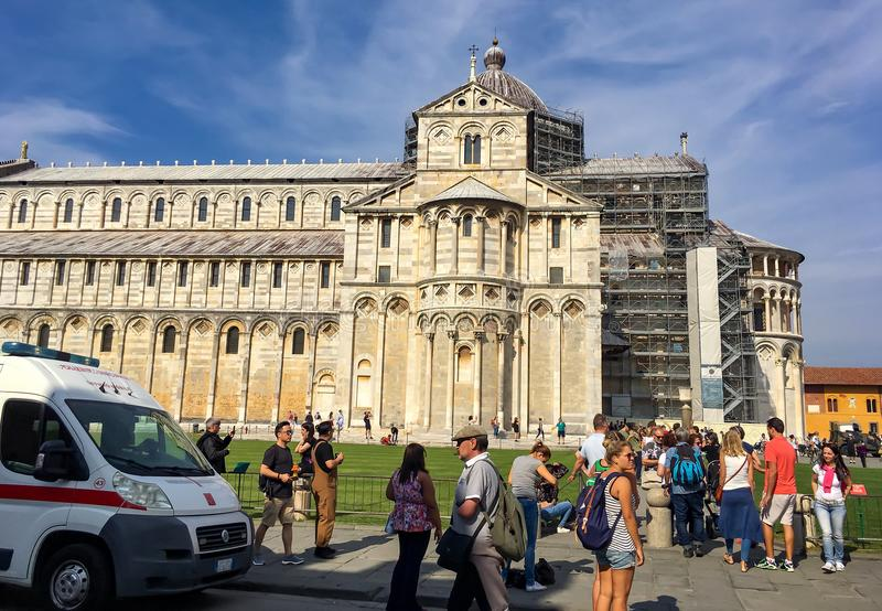 Square of cathedral Pisa Italy royalty free stock photos
