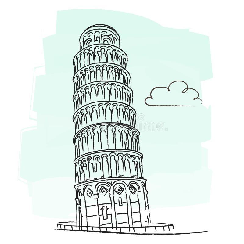 Pisa wierza ilustracja wektor