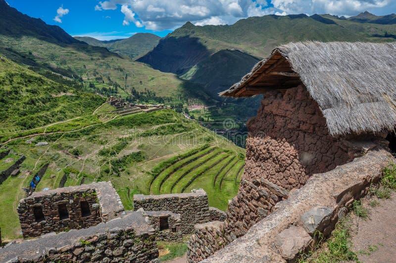 Pisac Incas ruiny, Święta dolina, Peru obrazy stock