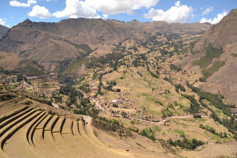 Pisac inka miasto zdjęcia royalty free