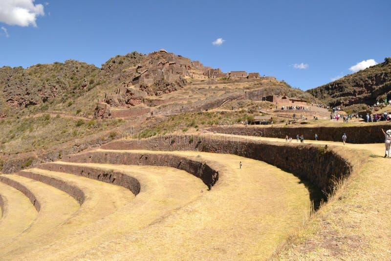 Pisac inka miasto fotografia stock