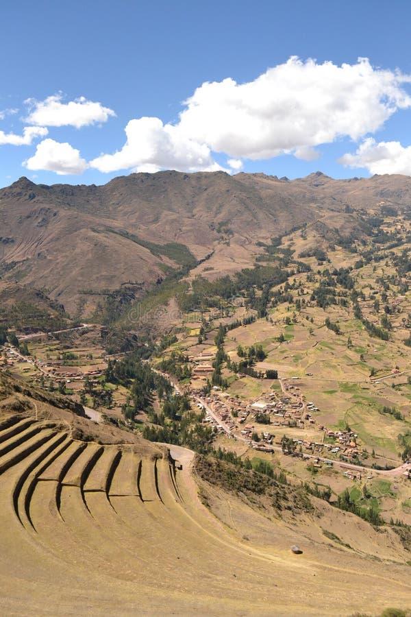 Pisac inka miasto fotografia royalty free