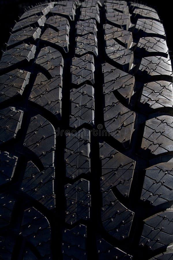 Pisadas del neumático imagen de archivo