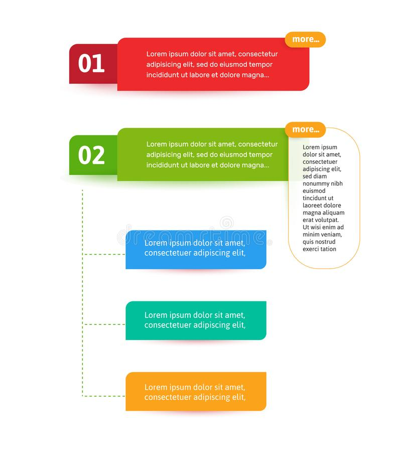Pisam os elementos para a relação da Web Elemento do vetor de Infograph Molde do sumário de Infographic ilustração do vetor