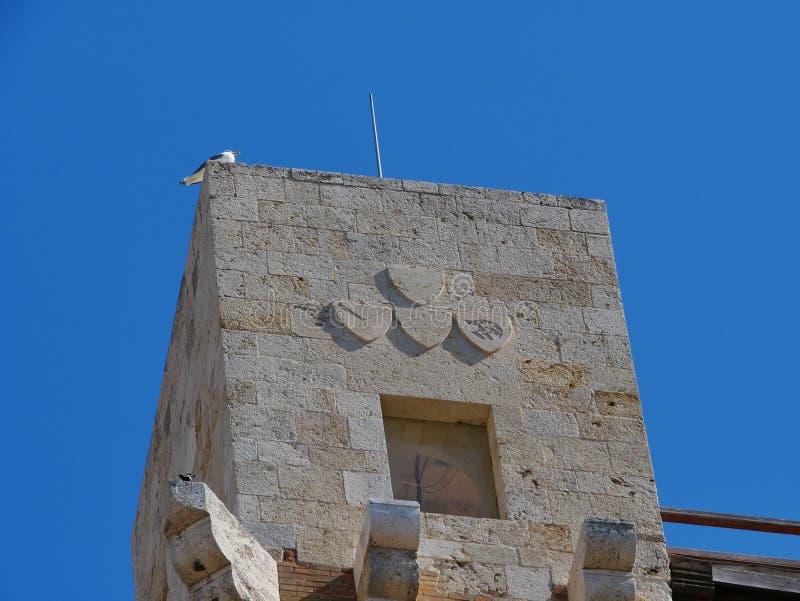 Pisana塔在卡利亚里 库存照片
