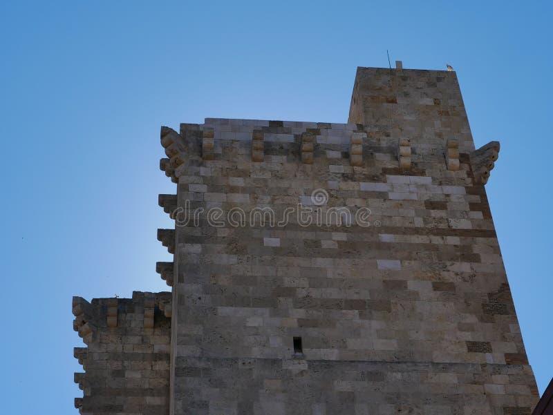 Pisana塔在卡利亚里 免版税库存图片