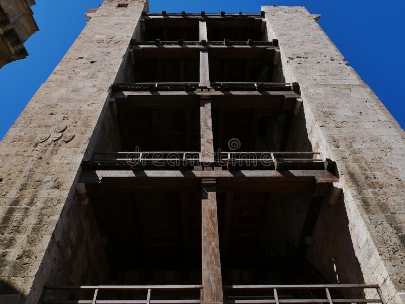 Pisana塔在卡利亚里 免版税图库摄影