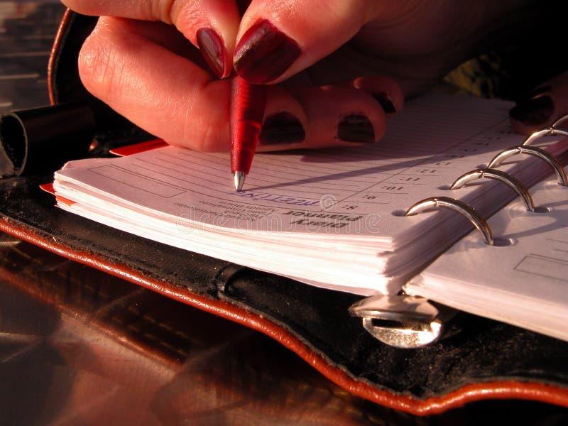 pisanie harmonogram fotografia royalty free