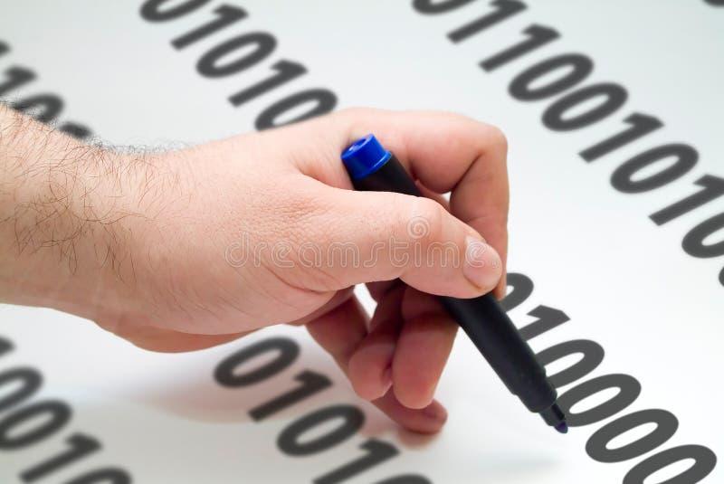 pisanie kodeksu obrazy stock