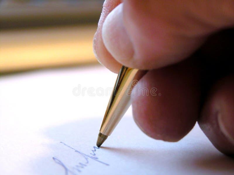 Pisanie Listu Obrazy Stock