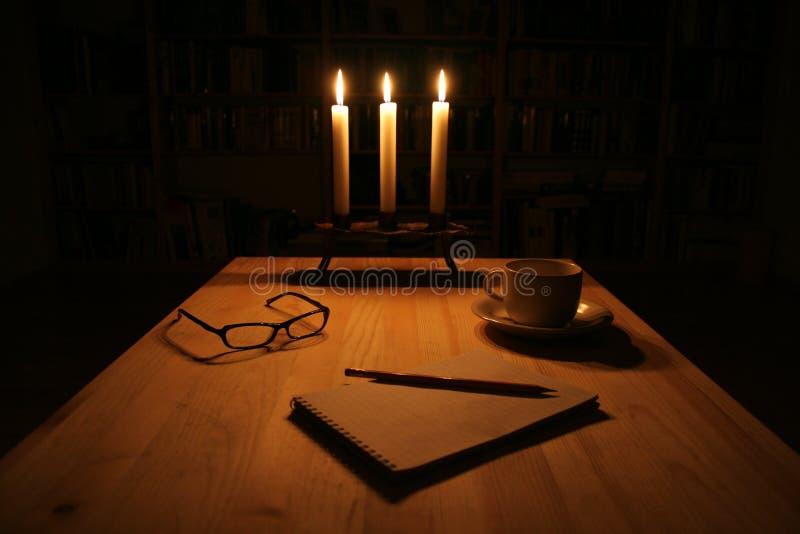 Download Pisanie noc zdjęcie stock. Obraz złożonej z świeczka, writing - 142076