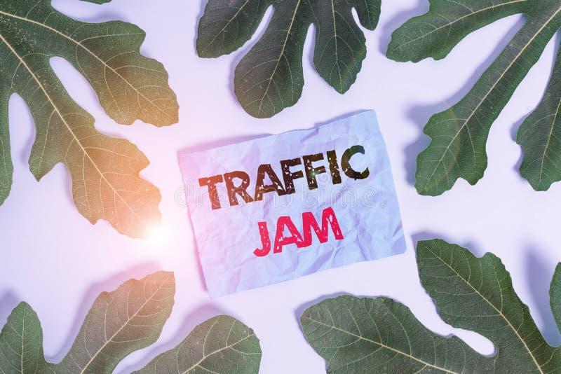 Pisanie ręki koncepcyjnej pokazujące 'Traffic Jam' Biznesowy tekst zdjęcia dużej liczby pojazdów blisko siebie i nie może fotografia royalty free