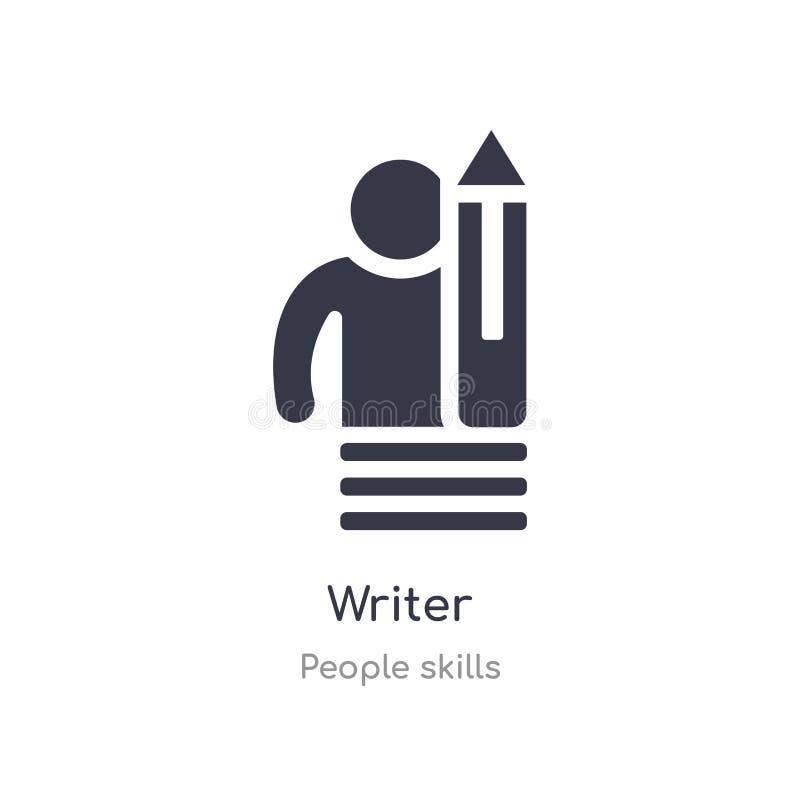 pisarska kontur ikona odosobniona kreskowa wektorowa ilustracja od ludzi umiej?tno?ci inkasowych editable cienka uderzenie pisarz royalty ilustracja