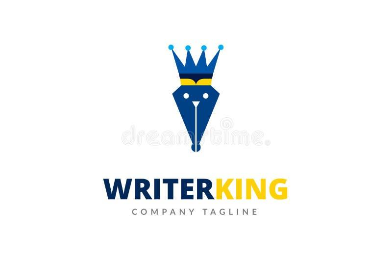 Pisarski królewiątko loga projekta szablonu wektor fotografia royalty free