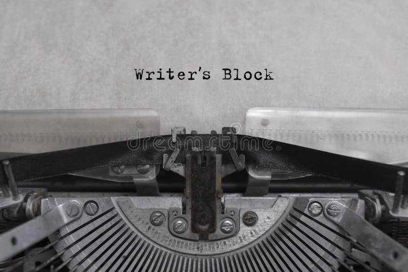 Pisarzów bloki pisać na maszynie słowa zdjęcia royalty free
