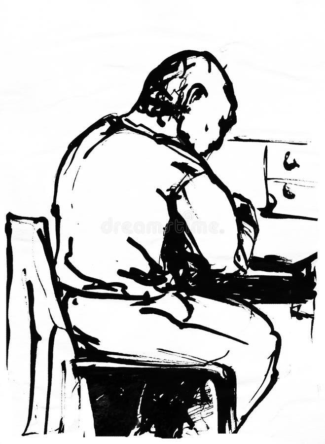 pisarz royalty ilustracja