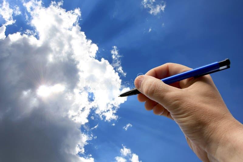 pisarz niebo zdjęcia stock