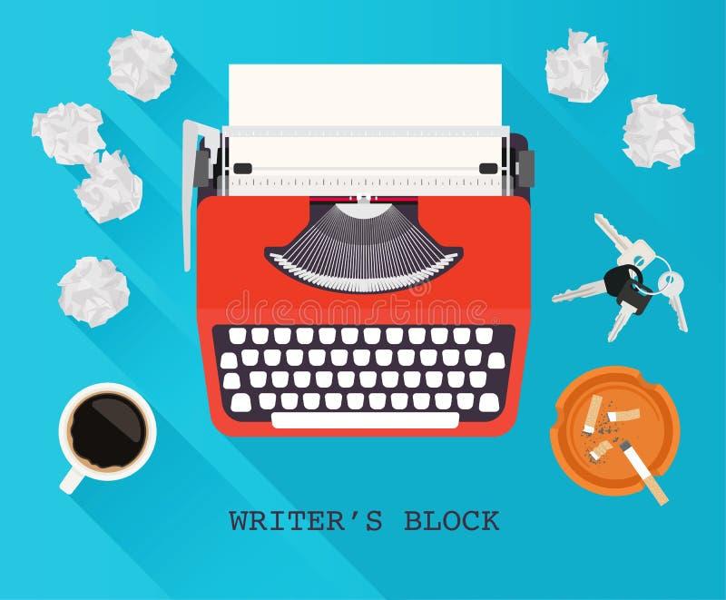 Pisarza blok ilustracji