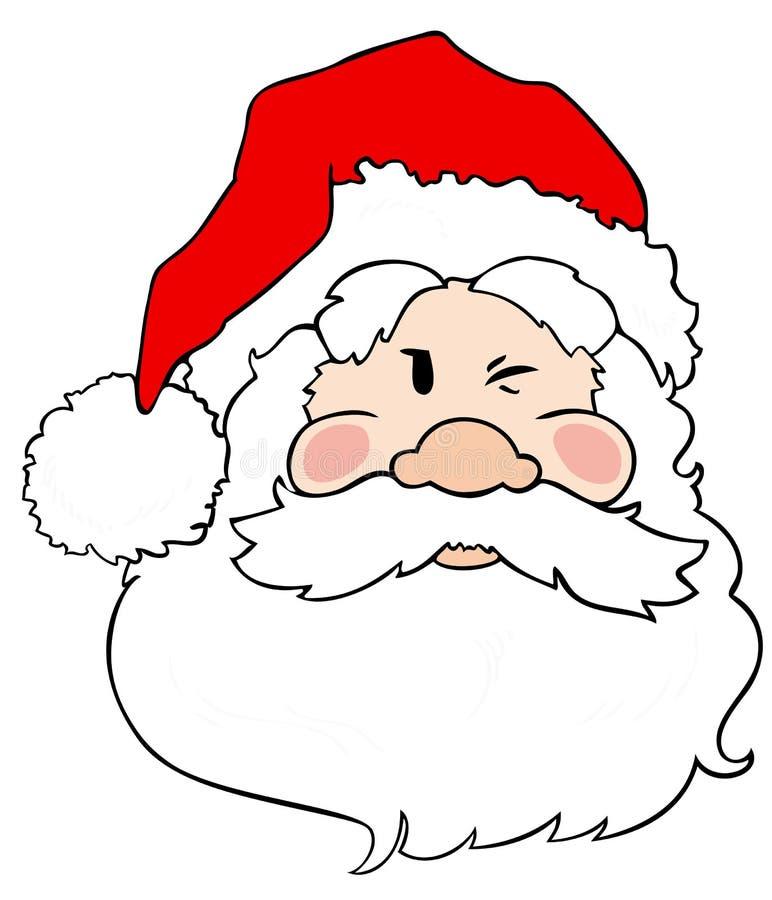 Pisc de Papai Noel. ilustração royalty free