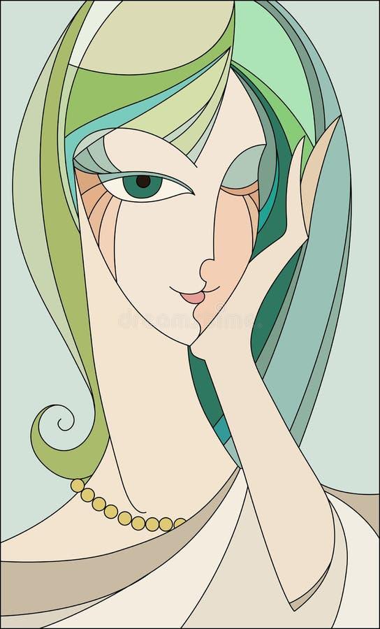 Piscadelas da menina ilustração royalty free