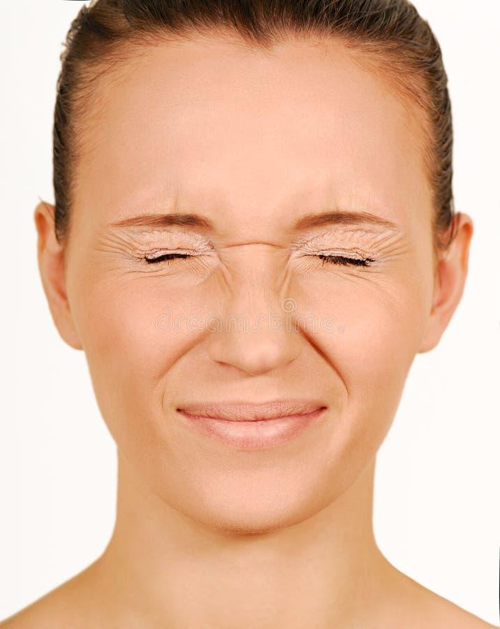 Piscamento. Olhos fechados. foto de stock royalty free