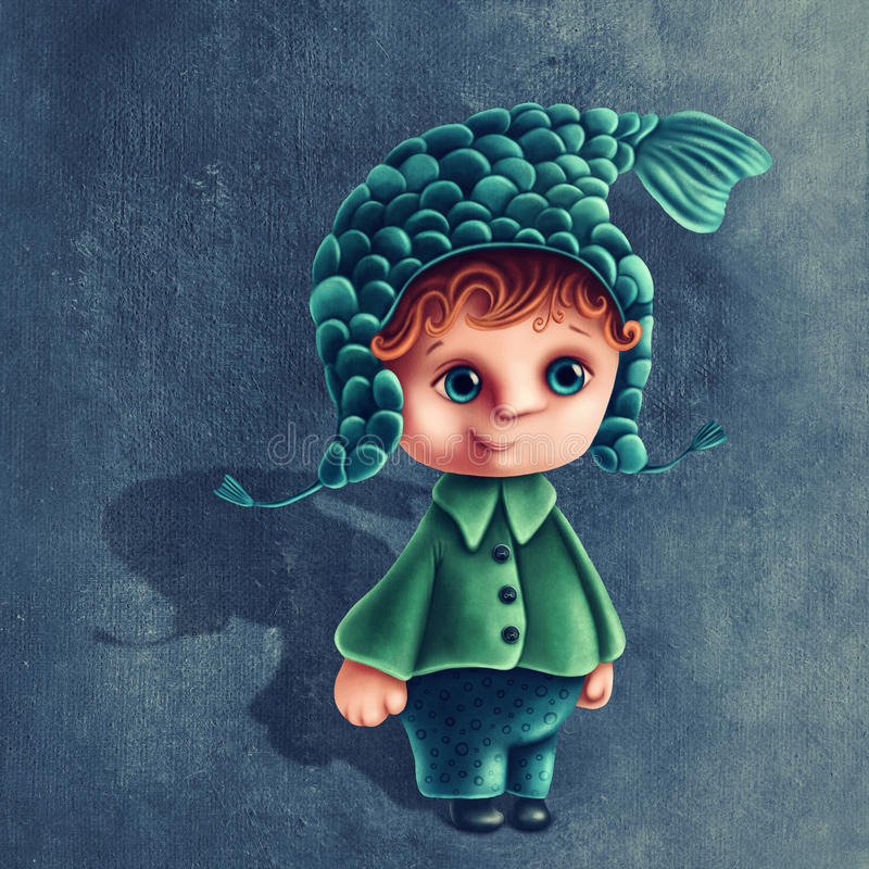 Pisces astrological sign boy. Illustration with pisces astrological sign boy vector illustration