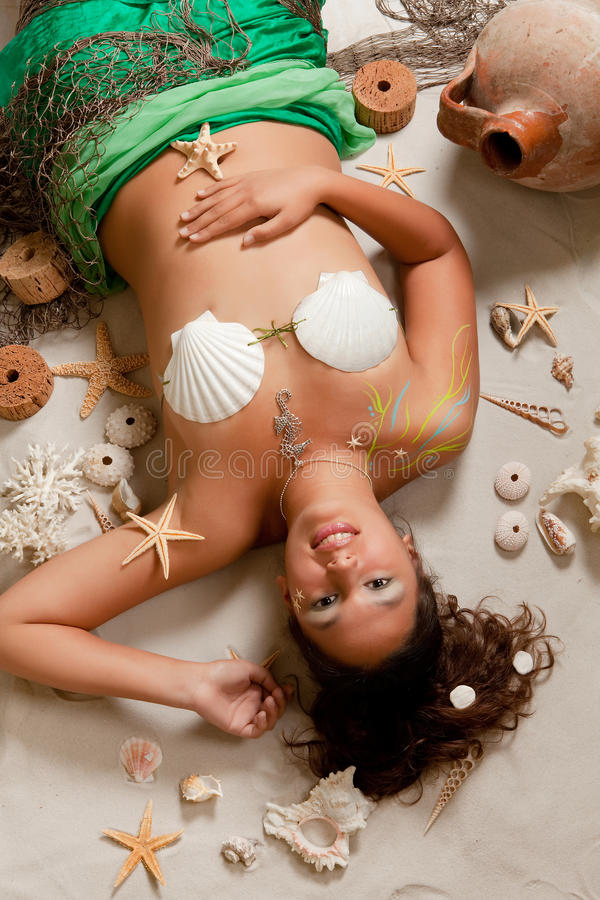 Pisces girl stock images