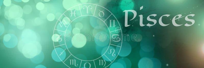 Pisces mistyczny zodiak royalty ilustracja