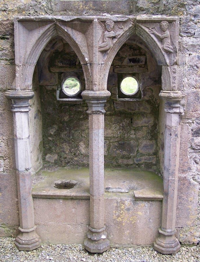 Piscina au monastère de Rosserk images stock
