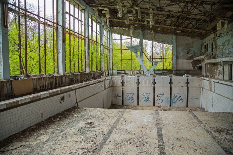 Piscina in Cernobyl immagine stock libera da diritti