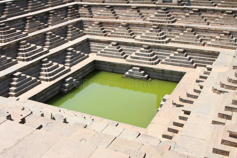 Piscina de agua del templo imagen de archivo