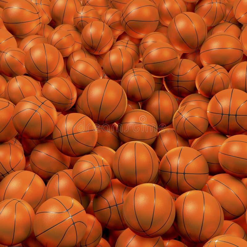 Piscina de la bola del baloncesto stock de ilustración