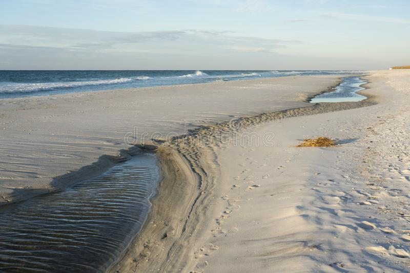 Piscina de la marea en la playa de la Florida fotos de archivo libres de regalías
