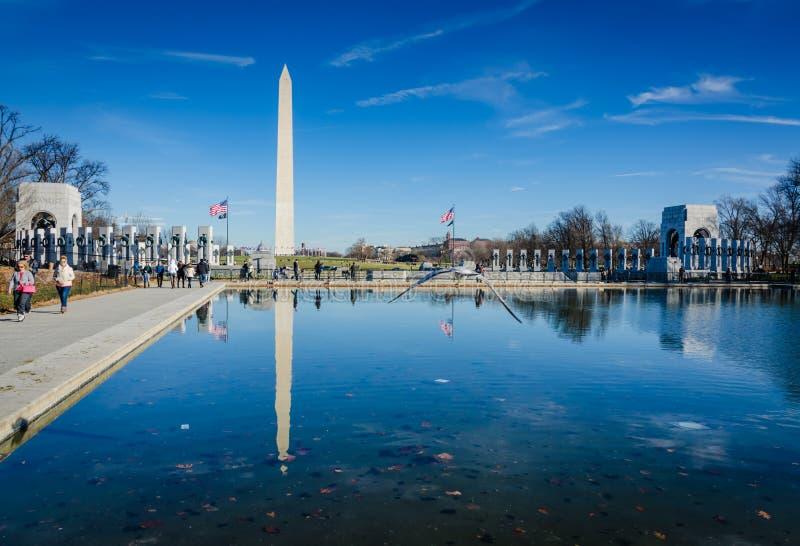 Piscina de reflejo - Washington DC imágenes de archivo libres de regalías