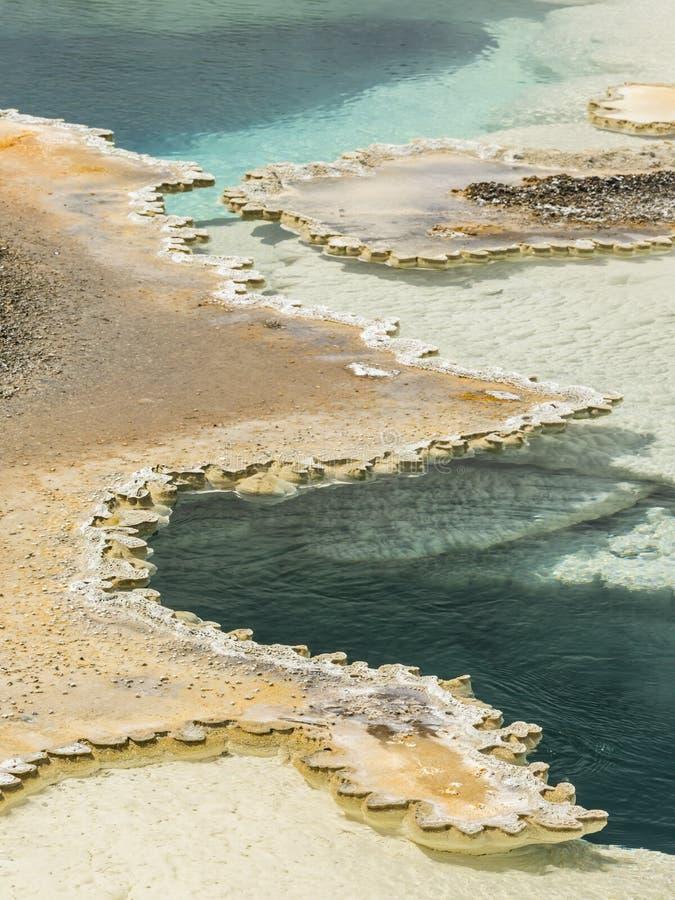 Piscina del doblete de Yellowstone imágenes de archivo libres de regalías