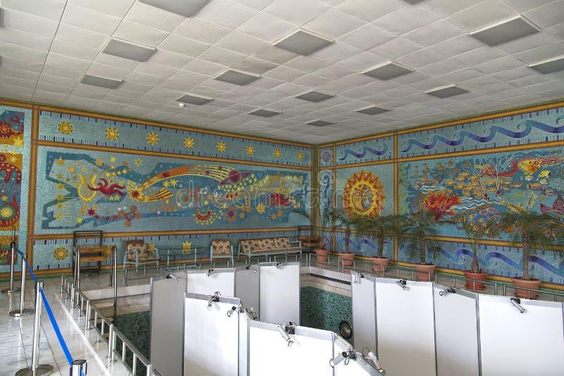 Piscina del palacio de Ceausescu foto de archivo libre de regalías