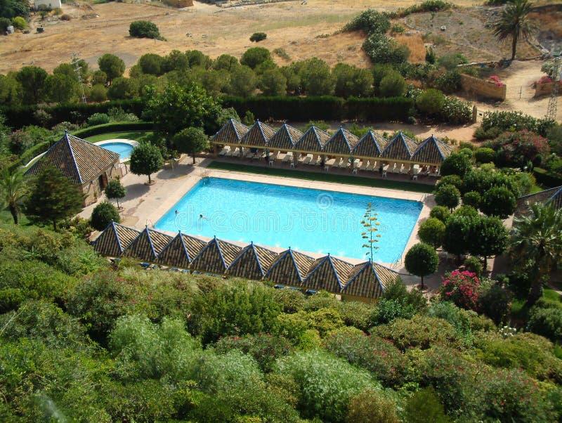 Piscina Dell Hotel Immagine Stock